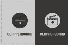 Clapperboard illustration Arkivfoton