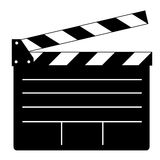 Clapperboard. An illustration of a black and white clapperboard Stock Photos