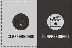 Clapperboard Illustration. A clean and simple clapperboard illustration Stock Photos