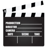 Clapperboard. With an information field for shooting movies. Vector illustration Royalty Free Stock Image