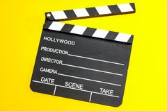 Clapperboard isolated close up stock photography