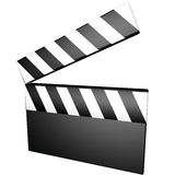Clapperboard. A clapperboard isolated over white, 3d render Stock Image