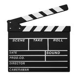 Clapperboard isolated on White. Background Stock Photos