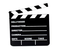 Clapperboard motion picture production Stock Photography