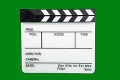 Clapperboard. Movie Production Tool Open film clapperboard Royalty Free Stock Image