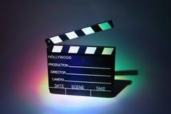 Clapperboard negro del cine Imágenes de archivo libres de regalías