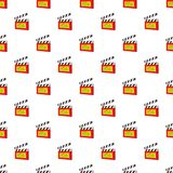 Clapperboard pattern, cartoon style. Clapperboard pattern. Cartoon illustration of clapperboard vector pattern for web Royalty Free Stock Photography