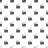 Clapperboard pattern. Seamless repeat in cartoon style vector illustration Stock Photos