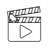 Clapperboard with play button. Vector illustration design Royalty Free Stock Image