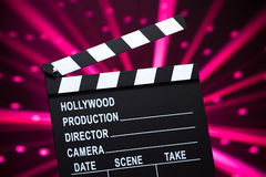 Clapperboard or slate board Stock Photos