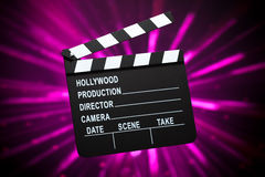 Clapperboard or slate board Royalty Free Stock Photo