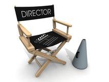 clapperboard sobre rotura de la silla del director   Foto de archivo
