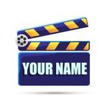 Clapperboard. Stop frame. Clapperboard Cinema. Blue. Stop frame. Illustration Royalty Free Stock Photo