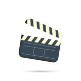 Clapperboard vector icon isolated on white background Royalty Free Stock Images