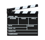 Clapperboard. Vector illustration of a blank and isolated movie clapperboard Stock Photos