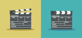 Clapperboard-Vektorillustration Stockfoto