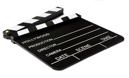 Clapperboard. With a White Background Stock Images