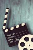 Clapperboards и вьюрок фильма стоковое фото rf