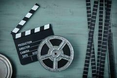 Clapperboards и вьюрок фильма стоковые фото