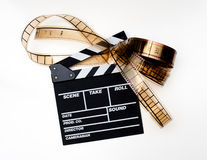 Clapperbräde med bildband Arkivfoton