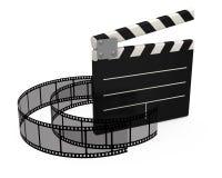 clapperfilm för bräde 3d Arkivbild