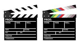 Clappers κινηματογράφων Στοκ εικόνες με δικαίωμα ελεύθερης χρήσης
