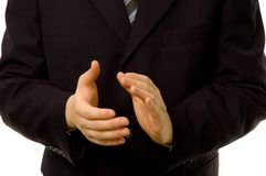 clapping бизнесмена Стоковые Фотографии RF