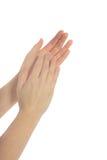 clapping руки стоковое фото