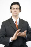 Clapping. Businessman clapping royalty free stock photos