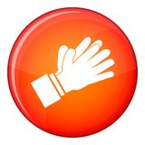 Clapping applauding hands icon, flat style Stock Photography