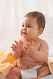 Clapping baby Royalty Free Stock Photo