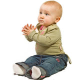 Clapping baby Stock Photo