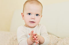 Clapping baby Stock Photography