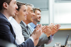 Clapping business people Royalty Free Stock Photo