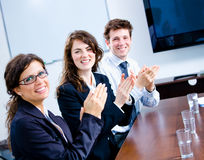 Clapping businesspeople royalty free stock images