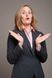 Clapping businesswoman Royalty Free Stock Photo