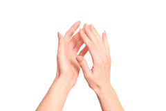 Clapping! Female Hands Clapping Royalty Free Stock Photography