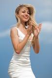 Clapping girl Stock Photos