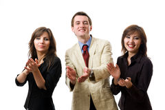 Clapping. Group of smiling businesspeople. Royalty Free Stock Images