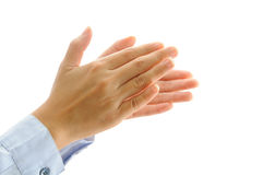 Clapping hand. Business people clapping hand isolate on white Royalty Free Stock Images