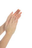Clapping of hands Stock Photo