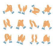 Clapping Hands Flat Icon Set Royalty Free Stock Photos