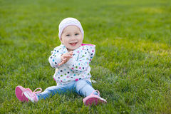 Clapping hands little girl Stock Images
