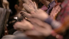 Clapping hands of people attending an event stock video