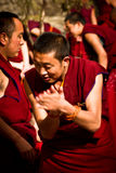 A clapping monk of Sera Monastery, Lhasa, Tibet Stock Photography