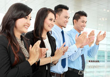Clapping office workers Royalty Free Stock Image