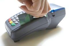 Claque terminale par la carte de crédit Photos libres de droits