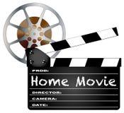 Claquette et bobine de home cinéma Photographie stock libre de droits