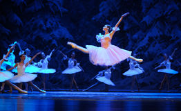 Clara a aimé tout ici, acte de vol-Le d'abord du quatrième pays de neige de champ - le casse-noix de ballet Image libre de droits