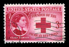 Clara Barton and American Red Cross US Postage Stamp Royalty Free Stock Photo